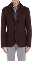 Herno Men's Piacenza Cashmere Three-Button Sportcoat-BURGUNDY