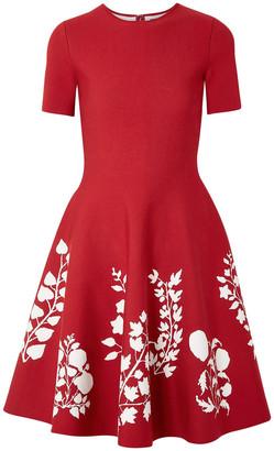 Oscar de la Renta Intarsia Stretch-knit Dress