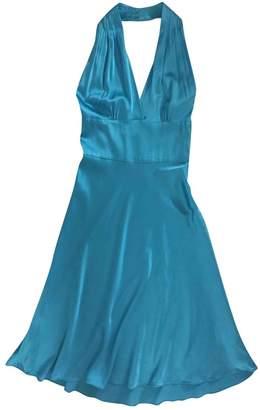 Miguelina Blue Silk Dress for Women