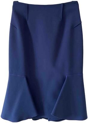 Roland Mouret Purple Wool Skirt for Women