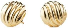 David Yurman Sculpted Cable Earrings In 18K Gold