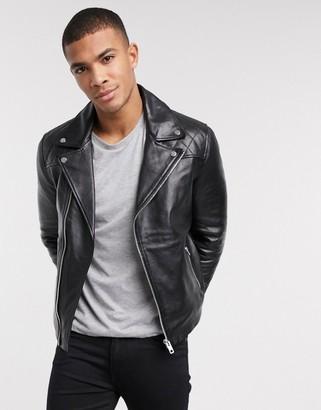 Barneys New York biker leather jacket