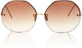 Linda Farrow Hexagon Frameless Sunglasses