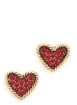 Marc Jacobs MJ Coin Heart Stud Earrings