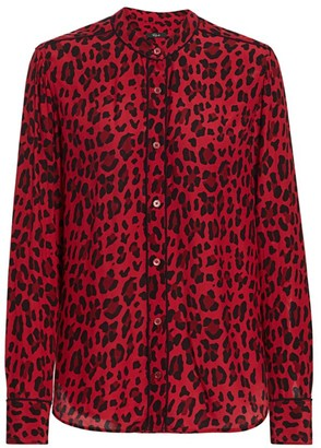 Rails Lillian Leopard Print Blouse