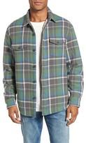 True Grit Men's Summit Hunter Plaid Faux Shearling Lined Shirt Jacket
