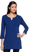 Liz Claiborne New York Regular Essentials 3/4 Sleeve Tunic