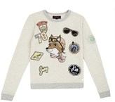 Juicy Couture Girls Fashion Track Traveling Fox Embroidered Track Top
