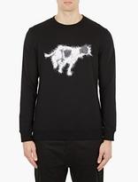 White Mountaineering Black Dog-motif Cotton Sweatshirt