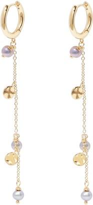 Gorjana Perla Imitation Pearl Drop Huggie Hoop Earrings