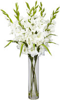 Asstd National Brand Nearly Natural Large Gladiola Silk Arrangement with Cylinder Vase