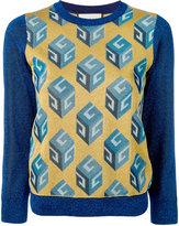 Gucci GG Wallpaper pattern jumper - women - Polyamide/Viscose/Metallic Fibre - S