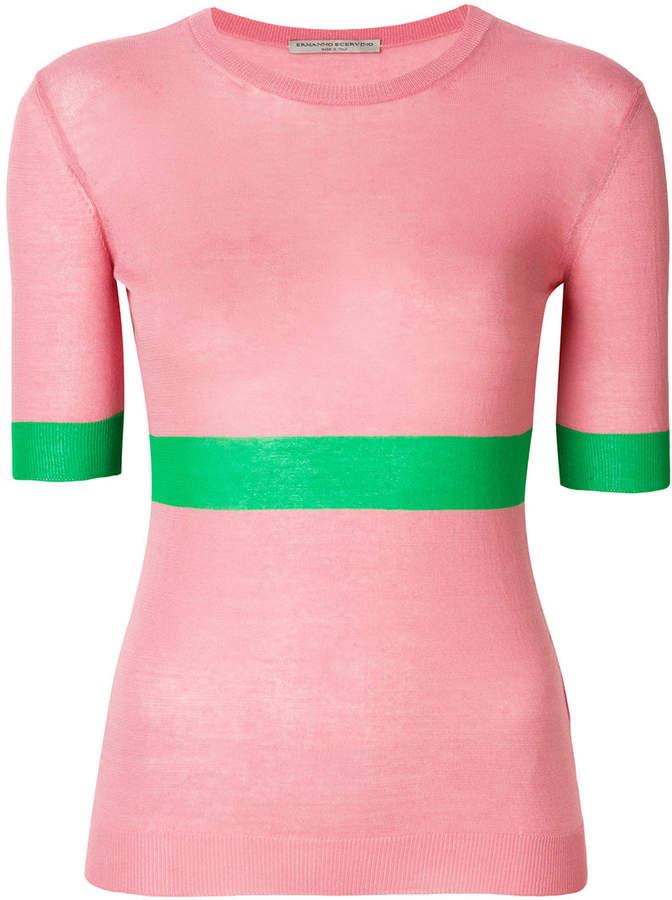 Ermanno Scervino block stripe knitted top