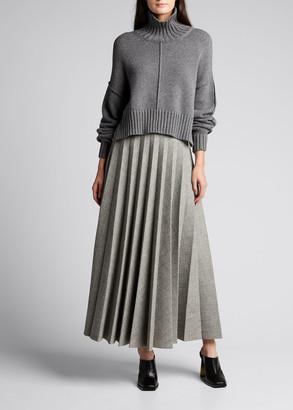 Peter Do Pleated Maxi Skirt