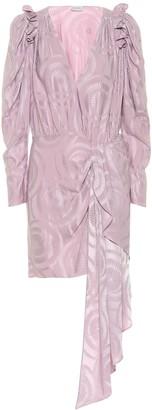 Magda Butrym Lagos silk jacquard minidress
