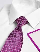 Marks and Spencer Geometric Tie, Hank & Cufflink Set