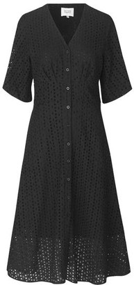 Second Female - Milly Broderie Dress Black - XS