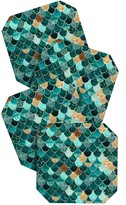 DENY Designs Monika Strigel Really Mermaid Coaster Set