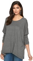 JLO by Jennifer Lopez Women's Lace-Up Dolman Caftan Sweater