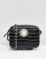 Versace Moc Croc Cross Body Bag with Chain Strap