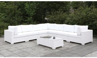 Rosecliff Heights kuhn 8 Piece Deep Seating Group with Cushions