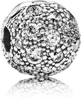 Pandora Abstract cubic zirconia silver clip