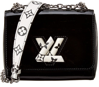 Louis Vuitton Black & White Monogram Vernis Leather Twist Pm