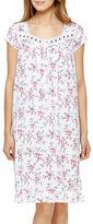 Eileen West Cap Sleeve Printed Dress