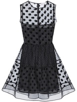 RED Valentino Polka-dot Silk-organza Mini Dress
