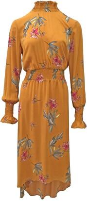 Nanette Nanette Lepore Smocked Neck Midi Dress
