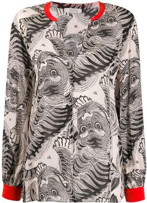 Schumacher Dorothee silk tiger print blouse
