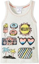 Little Marc Jacobs Beach Supplies Tank Top (Toddler/Kid) - White-6A