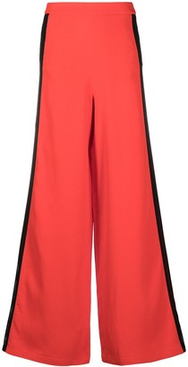 Just Cavalli Side Strip Wide-Leg Trousers
