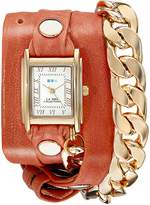 La Mer Women's LMSCW4000 Malibu Gold Cantelope Wrap Watch