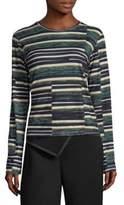 Derek Lam Striped Long-Sleeve Top