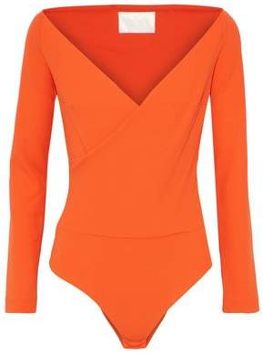 SOLACE London Yolan Wrap-effect Crepe Bodysuit