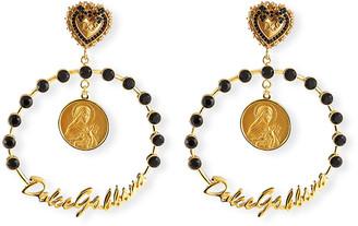 Dolce & Gabbana Crazy for Sicily Hoop Earrings