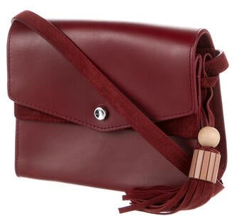 Thumbnail for your product : Elizabeth and James Leather Crossbody Bag Red