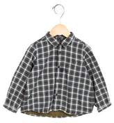 Bonpoint Girls' Plaid Patterned Flannel Top