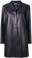 Desa 1972 - short leather coat - women - Cotton/Leather - 4