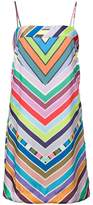 Milly rainbow chevron striped mini dress