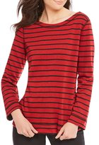 Westbound Reversible Stripe Boatneck Top