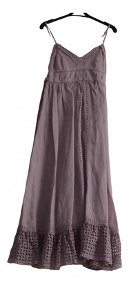 Balenciaga Purple Linen Dresses