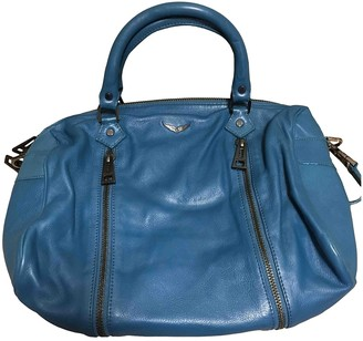 Zadig & Voltaire Sunny Blue Leather Handbags