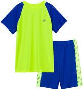 New Balance Boys 4-7 Performance Tee & Logo Shorts Set