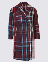 M&S Collection PETITE Checked Coat