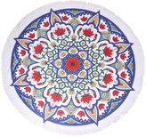 Riah Fashion Flower-Mandala Beach Towel