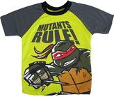 Nickelodeon Little Boys Yellow Teenage Mutant Ninja Turtle Print T-Shirt