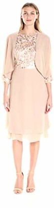 Le Bos Women's Embroidered Bodice Fit and Flare Dress