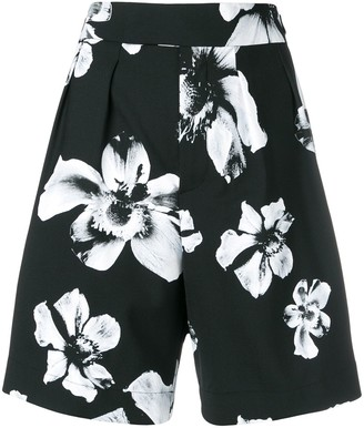 Neil Barrett Tailored Floral Pattern Shorts